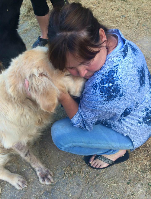 Sawyer found the love he longed for in our Pickens County rescue partner, Pam.